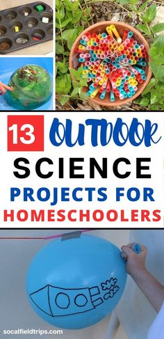 Are you looking for a fun STEAM activity to do with your homeschooler? Then check out this list of 13 outdoor STEAM activities that only require a limited number of supplies and can be completed in under 1 hour. Cool Science Experiments, Stem Science, Preschool Science, Preschool Learning, Science For Kids, Science Projects, Fun Learning, Teaching, Educational Activities For Kids