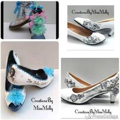 Alice in Wonderland Inspired Wedding Customised Shoes, Disney Shoes, Wedding Shoes, Prom Shoes Prom Shoes, Wedding Shoes, Alice In Wonderland Wedding Dress, Custom Shoes, Customised Shoes, Disney Shoes, Blue Pearl, Blue Glitter, Your Shoes