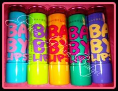 Maybelline Baby Lips~ Inexpensive & they  have a nice scent & soft color tint to them  ;) absolutely love these! I want them all!!!