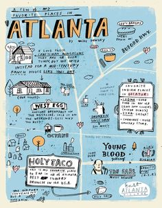 Georgia Tourism & Travel Website Cute- Creative way to suggest fun things to do in Atlanta!Cute- Creative way to suggest fun things to do in Atlanta! Atlanta Map, Visit Atlanta, Atlanta Travel, Atlanta Georgia, Atlanta City, Athens Georgia, Georgia Usa, New Orleans, New York