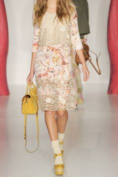 Mulberry silk-organza lace and printed crepe dress, £2,371.84