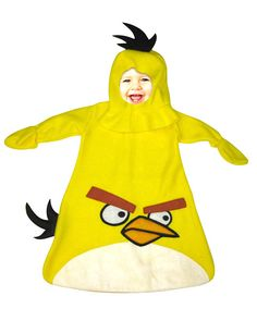 Your Little One Can Be A Cute Little Angry Bird! Angry Birds Bunting Style Costume Of Yellow Bird. Velcro Closure Along The Bottom For Easy Diaper Changing. One Size Fit Sizes Months. One Size Fit Sizes Months. Care Instructions: H Funny Baby Costumes, Cute Baby Halloween Costumes, Toddler Costumes, Family Costumes, Cool Costumes, Game Costumes, Halloween Ideas, Costume Ideas, Happy Halloween