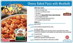 Cheesy Baked Pasta with Meatballs