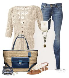 """""""HUDSON JEANS"""" by happygirljlc ❤ liked on Polyvore featuring Hudson Jeans, Fat Face, Denim & Supply by Ralph Lauren, Coach, Stuart Weitzman, Topshop, women's clothing, women, female and woman"""