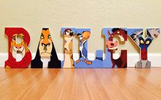 Lion King letter art. Hand painted wood letters. Kids room/nursery decor. by ShellsDesignStudio on Etsy https://www.etsy.com/listing/248559980/lion-king-letter-art-hand-painted-wood
