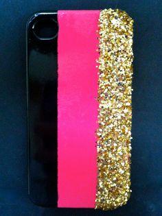 neon pink + gold glitter = <3
