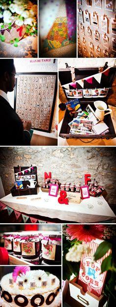 Joli plan de table DIY et urne mariage