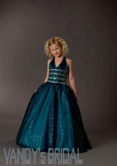 A-Line V-neck Floor-Length Sleeveless Taffeta Darkgreen Flower Girl Dress (JSAS7967) [JSAS7967] - US$84.99 :