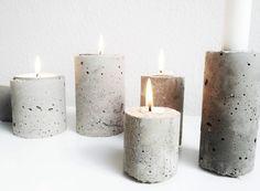 Diy: concrete - love this for an outdoor area hum бетонный дизайн, подсвечн Concrete Cement, Concrete Crafts, Concrete Projects, Concrete Design, Patio Design, Decoracion Low Cost, Diy Luminaire, Concrete Candle Holders, Decoration Inspiration