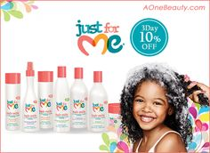 10% Sale Just For Me Hair Care until Sunday http://www.aonebeauty.com/brands/Just-For-Me.html?sort=newest #sale #haircare #kids #beauty