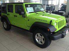 Lime Green Jeep Wrangler Rubicon