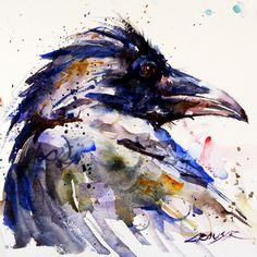 RAVEN - original watercolor painting by Dean Crouser