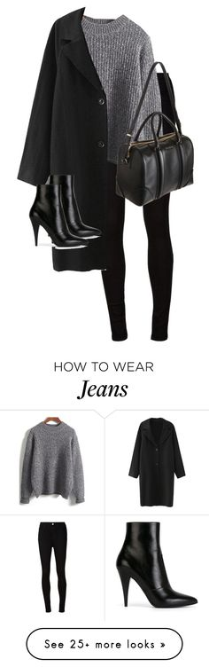 """Untitled #10372"" by alexsrogers on Polyvore featuring AG Adriano Goldschmied, Yves Saint Laurent and Givenchy"