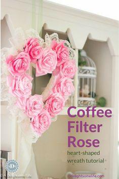 Trendy painting rose tutorial step by step ideas Crepe Paper Flowers, Paper Roses, Felt Flowers, Diy Flowers, Fabric Flowers, Flower Paper, Fabric Flower Tutorial, Rose Tutorial, Wreath Tutorial