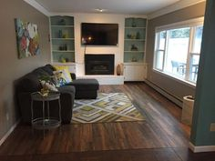 Family Room Remodel with Roasted Chickory Laminate!