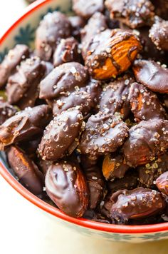 This quick and easy dessert calls for just three ingredients - Diamond Almonds, chocolate and sea salt!