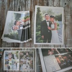 If your wedding was truly the event of the season, doesn't that mean that it should have been covered by the local newspaper? Create your own press company, purely to cover your own biggest day. Guests will love reliving the moment along with you and finding themselves in the photos published. This is a cute thank you that will leave a lasting impression.