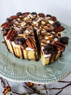 Vegan Pumpkin Turtle Cheesecake   Fragrant Vanilla Cake
