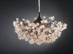 Ceiling lamp. Transparent flowers. by yehudalight on Etsy, $430.00
