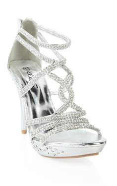 Silver Open Toe Heels For Prom