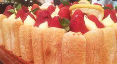 Charlotte de frutilla y crema de limón Tapas, Cantaloupe, Watermelon, Strawberry, Fruit, Cake, Desserts, Food, Videos