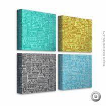 Canvas Haus For Fun City Color 20X20