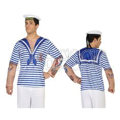 Disfraz camiseta 3 D Marinero para hombre - Dresoop.es