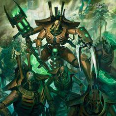 Warhammer Fantasy, Warhammer 40k Necrons, Necron Army, Dark Warrior, Epic Art, The Grim, Fantasy Artwork, Concept Art, Character Design