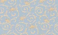Albany Villa Decorative Blue Wallpaper main image