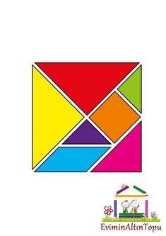 tangram -yapımı- şablonları ve daha fazlası (3) | Evimin Altın Topu