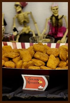 Party food - golden nuggets