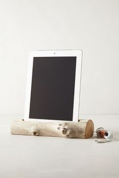 Love this Driftwood iPad Dock from Anthropologie! So pretty and functional!