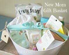 New Mom Gift Basket #thissarahloves