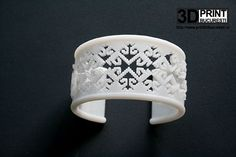 """""""Crow's feet""""bracelet. Its surface features a very old, folk stitch from Romania, Suceava area, known as """"crow's feet"""", inspired by nature and """"sculpted"""" in ABS as an expression of Romanian traditions intertwined with the special effects of the computerized world.  #bracelet #3dprinted #jewelrydesign Foot Bracelet, 3d Printed Jewelry, Special Effects, Romania, Jewelry Collection, Sculpting, Stitches, Folk, Jewelry Design"""