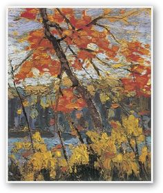 Tom Thomson The Maple (Group of Seven) Group Of Seven Artists, Group Of Seven Paintings, Paintings I Love, Acrylic Paintings, Emily Carr, Canadian Painters, Canadian Artists, Landscape Art, Landscape Paintings