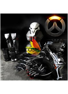 Costume Detail Overwatch Reaper Armor Cosplay Costume Includes - Body Armor, Leg…
