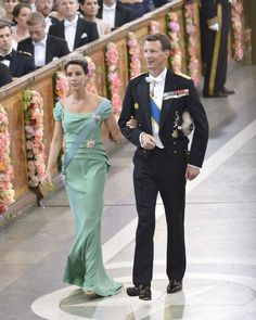 Princess Marie and Prince Joachim at the wedding of Prince Carl Philip of Sweden and Sophia Hellqvist 13/6/15