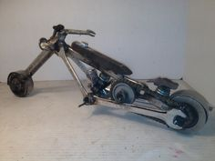 Motorcycle made from wrenches-Americanmetalart.net