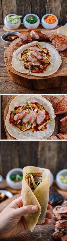 Easy Peking Duck with Homemade Mandarin Pancakes Recipe by The Woks of Life