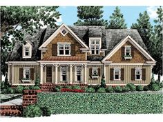 Cottage House Plan with 2701 Square Feet and 4 Bedrooms(s) from Dream Home Source | House Plan Code DHSW53531