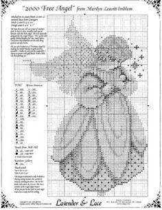 Christmas Angels - x-stitch Cross Stitch Fairy, Cross Stitch Angels, Xmas Cross Stitch, Cross Stitch Charts, Cross Stitch Designs, Cross Stitching, Cross Stitch Embroidery, Cross Stitch Patterns, Stitch And Angel