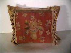 Inset Peach Aubusson Pillow $600.00