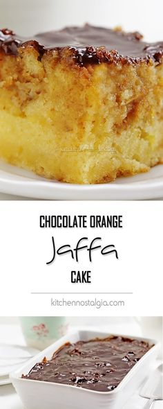 Chocolate Orange Jaffa Cake - extra moist and delicious cake with two unusual ingredients