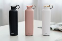 EQUA Smart Water Bottles A bottle is often a narrow-necked container made of an impermeable material Stylish Water Bottles, Cute Water Bottles, Reusable Water Bottles, Drink Bottles, School Water Bottles, Alcohol Bottles, Botella Swell, Tumblers, Food Storage Boxes