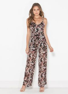 Don't worry. The flowers on this jumpsuit will flourish even if you do have a black thumb.