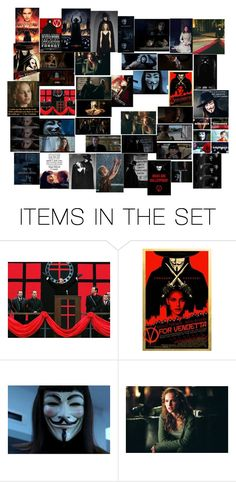"""""""V For Vendetta (2006 Film)"""" by roseangel21 ❤ liked on Polyvore featuring art"""