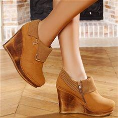 Escarpins compensés femmes taille 36 Camel talons de 12 cm Chaussure A Talon  Compensé, Escarpins fc7182fc4a3b