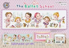 The Ballet School - - Ballet Cross Stitch Pattern Leaflet SODA Stitch - Modern Cross Stitch Chart - Kawaii - Ballet Sampler XStitch *In my Stash Cross Stitch Charts, Counted Cross Stitch Patterns, Cross Stitch Designs, School Kit, Ballet School, Chart Design, Sewing Material, Modern Cross Stitch, Le Point