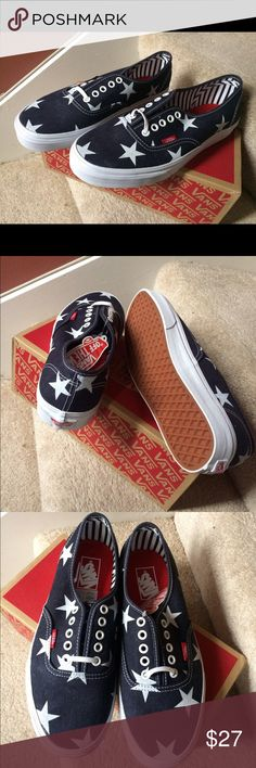VANS authentic lace up sneakers sz9.5 & 10 & 10.5 Brand new with tag and box Authentic  Price is firm. No offer.  Ship today or tomorrow Vans Shoes Sneakers