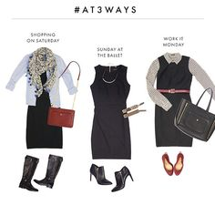 We get #LittleBlackDressed for EVERY occasion. #AT3Ways #instaANN